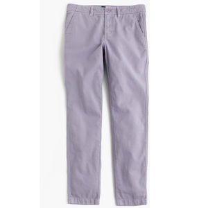 J. Crew Purple Cotton Sunday Slim Chino Ankle Pant